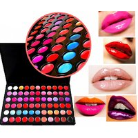 Looks United 66 Color Pro Lip Gloss Lipstick Cosmetic Makeup Palette