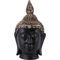 25cm Big Lord Gautam Buddha Head Statue With Crystal Stone Studded On Head For Home Decor, Gift Item