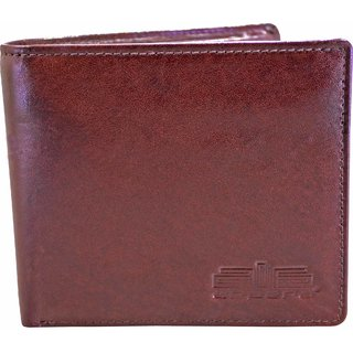 Arpera Brown Genuine Leather Mens Wallet With Hidden Compartment C11438-2
