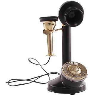 Zahab Antique Black Maharaja Candle Stick Telephone