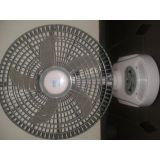 Akari 8 Inch Rechargeable Fan With Led Light Ac / Dc