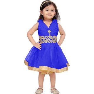 Aarika Girls Blue Frock