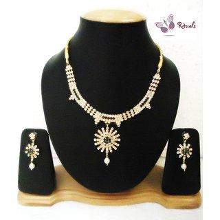 Rituals Cz Diamond Necklace Set