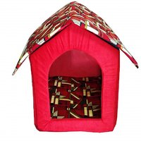 Petsho7-Stylish Home For Your Pets Triangle Hut For Dog  Cats - Small
