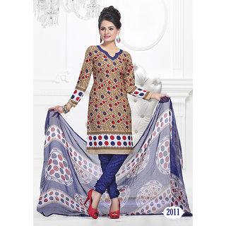 Trendz Apparels Beige American Crepe Straight Fit Salwar Suit