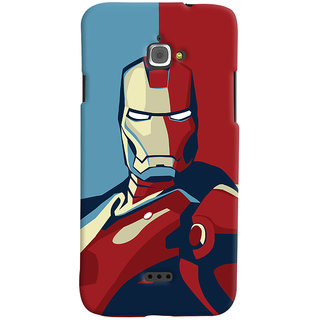 Oyehoye Infocus M350 Mobile Phone Back Cover With Iron Man - Durable Matte Finish Hard Plastic Slim Case