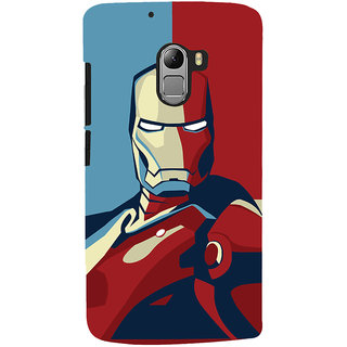 Oyehoye Lenovo K4 Note Mobile Phone Back Cover With Iron Man - Durable Matte Finish Hard Plastic Slim Case