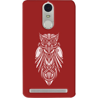 Oyehoye Lenovo K5 Note Mobile Phone Back Cover With Animal Print Owl - Durable Matte Finish Hard Plastic Slim Case