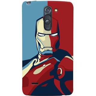 Oyehoye LG G3 Stylus / Optimus G3 Stylus Mobile Phone Back Cover With Iron Man - Durable Matte Finish Hard Plastic Slim Case