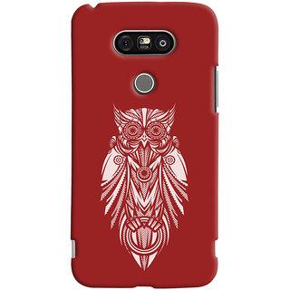 Oyehoye LG G5 / Optimus G5 Mobile Phone Back Cover With Animal Print Owl - Durable Matte Finish Hard Plastic Slim Case