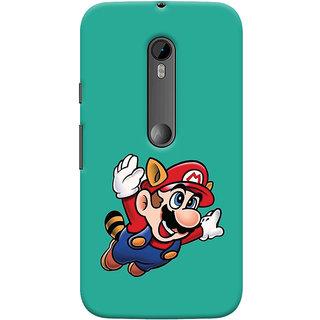 Oyehoye Motorola Moto G3 Mobile Phone Back Cover With Super Mario - Durable Matte Finish Hard Plastic Slim Case