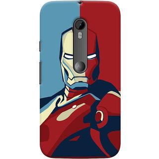 Oyehoye Motorola Moto G3 Mobile Phone Back Cover With Iron Man - Durable Matte Finish Hard Plastic Slim Case