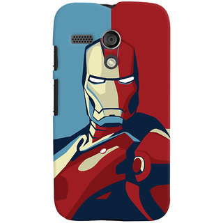 Oyehoye Motorola Moto G Mobile Phone Back Cover With Iron Man - Durable Matte Finish Hard Plastic Slim Case