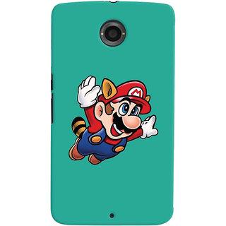 Oyehoye Motorola Google Nexus 6 Mobile Phone Back Cover With Super Mario - Durable Matte Finish Hard Plastic Slim Case