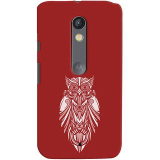 Oyehoye Motorola Moto X Play Mobile Phone Back Cover With Animal Print Owl - Durable Matte Finish Hard Plastic Slim Case