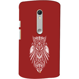 Oyehoye Motorola Moto X Style Mobile Phone Back Cover With Animal Print Owl - Durable Matte Finish Hard Plastic Slim Case