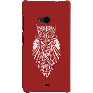 Oyehoye Microsoft Lumia 535 / Dual Sim Mobile Phone Back Cover With Animal Print Owl - Durable Matte Finish Hard Plastic Slim Case