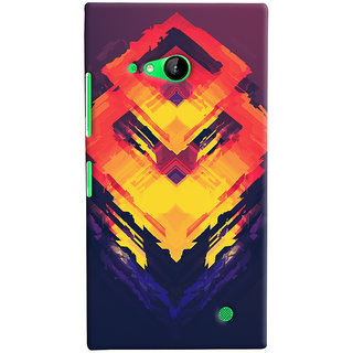 Oyehoye Microsoft Lumia 730 / Dual Sim Mobile Phone Back Cover With Abstract Art - Durable Matte Finish Hard Plastic Slim Case