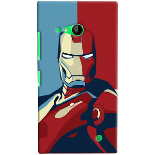 Oyehoye Microsoft Lumia 730 / Dual Sim Mobile Phone Back Cover With Iron Man - Durable Matte Finish Hard Plastic Slim Case
