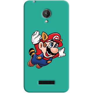 Oyehoye Micromax Canvas Spark Q380 Mobile Phone Back Cover With Super Mario - Durable Matte Finish Hard Plastic Slim Case