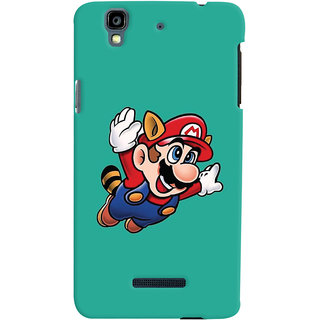 Oyehoye Micromax Yureka Plus Mobile Phone Back Cover With Super Mario - Durable Matte Finish Hard Plastic Slim Case