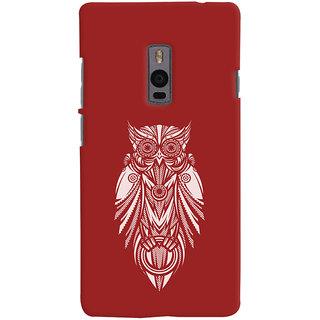 Oyehoye OnePlus 2 Mobile Phone Back Cover With Animal Print Owl - Durable Matte Finish Hard Plastic Slim Case