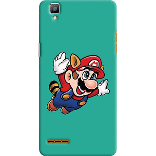 Oyehoye Oppo F1 Mobile Phone Back Cover With Super Mario - Durable Matte Finish Hard Plastic Slim Case
