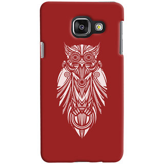 Oyehoye Samsung Galaxy A3 A310 (2016 Edition) Mobile Phone Back Cover With Animal Print Owl - Durable Matte Finish Hard Plastic Slim Case