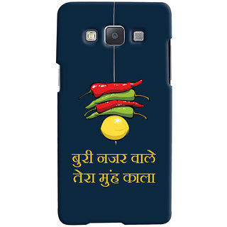 Oyehoye Samsung Galaxy A5 (2015) Mobile Phone Back Cover With Buri Nazar Wale Tera Muh Kala Quirky - Durable Matte Finish Hard Plastic Slim Case