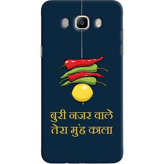 Oyehoye Samsung Galaxy J5 (2016) Mobile Phone Back Cover With Buri Nazar Wale Tera Muh Kala Quirky - Durable Matte Finish Hard Plastic Slim Case