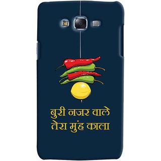 Oyehoye Samsung Galaxy J5 Mobile Phone Back Cover With Buri Nazar Wale Tera Muh Kala Quirky - Durable Matte Finish Hard Plastic Slim Case