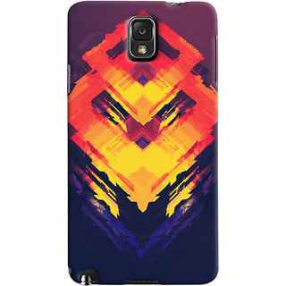 Oyehoye Samsung Galaxy Note 3 Mobile Phone Back Cover With Abstract Art - Durable Matte Finish Hard Plastic Slim Case