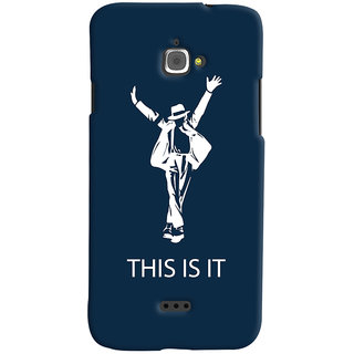 Oyehoye Infocus M350 Mobile Phone Back Cover With This is it Michael Jackson - Durable Matte Finish Hard Plastic Slim Case