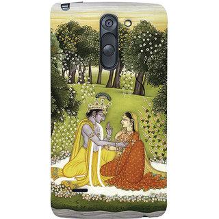 Oyehoye LG G3 Stylus / Optimus G3 Stylus Mobile Phone Back Cover With Vintage Radhe Krishna Art - Durable Matte Finish Hard Plastic Slim Case