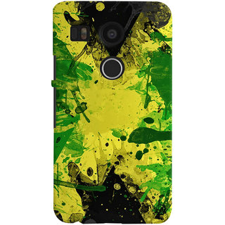 Oyehoye LG Google Nexus 5X Mobile Phone Back Cover With Colourful Art - Durable Matte Finish Hard Plastic Slim Case