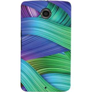 Oyehoye Motorola Google Nexus 6 Mobile Phone Back Cover With Abstract Art - Durable Matte Finish Hard Plastic Slim Case