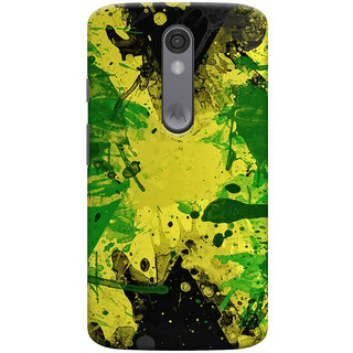 Oyehoye Motorola Moto X Force Mobile Phone Back Cover With Colourful Art - Durable Matte Finish Hard Plastic Slim Case