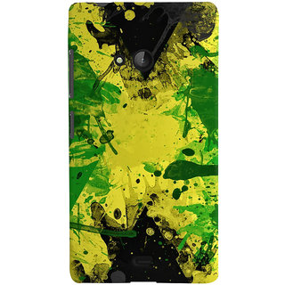 Oyehoye Microsoft Lumia 540 Mobile Phone Back Cover With Colourful Art - Durable Matte Finish Hard Plastic Slim Case