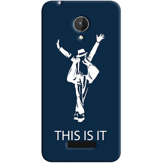 Oyehoye Micromax Canvas Spark Q380 Mobile Phone Back Cover With This is it Michael Jackson - Durable Matte Finish Hard Plastic Slim Case