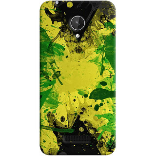 Oyehoye Micromax Canvas Spark Q380 Mobile Phone Back Cover With Colourful Art - Durable Matte Finish Hard Plastic Slim Case