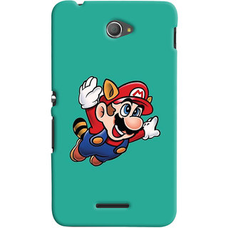 Oyehoye Sony Xperia E4 Mobile Phone Back Cover With Super Mario - Durable Matte Finish Hard Plastic Slim Case