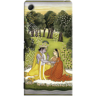 Oyehoye Sony Xperia Z4 Mobile Phone Back Cover With Vintage Radhe Krishna Art - Durable Matte Finish Hard Plastic Slim Case