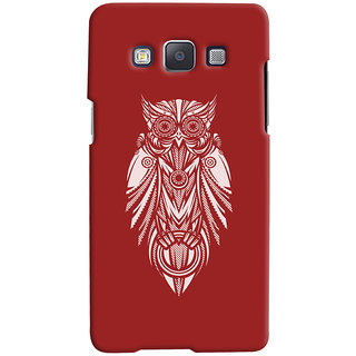 Oyehoye Samsung Galaxy E5 Mobile Phone Back Cover With Animal Print Owl - Durable Matte Finish Hard Plastic Slim Case