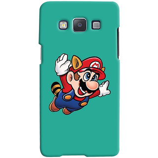 Oyehoye Samsung Galaxy E5 Mobile Phone Back Cover With Super Mario - Durable Matte Finish Hard Plastic Slim Case