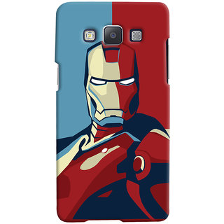 Oyehoye Samsung Galaxy E5 Mobile Phone Back Cover With Iron Man - Durable Matte Finish Hard Plastic Slim Case