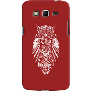 Oyehoye Samsung Galaxy Grand 2 G7106 Mobile Phone Back Cover With Animal Print Owl - Durable Matte Finish Hard Plastic Slim Case