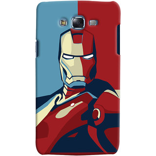 Oyehoye Samsung Galaxy J5 Mobile Phone Back Cover With Iron Man - Durable Matte Finish Hard Plastic Slim Case
