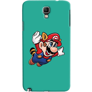 Oyehoye Galaxy Note 3 Neo Mobile Phone Back Cover With Super Mario - Durable Matte Finish Hard Plastic Slim Case