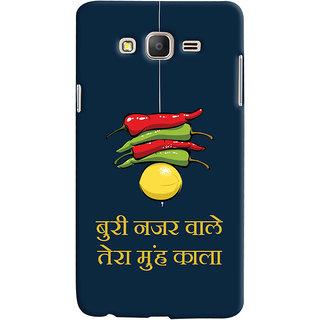 Oyehoye Samsung Galaxy ON7 Mobile Phone Back Cover With Buri Nazar Wale Tera Muh Kala Quirky - Durable Matte Finish Hard Plastic Slim Case