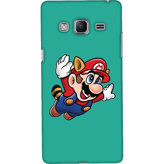 Oyehoye Samsung Galaxy Z3 Mobile Phone Back Cover With Super Mario - Durable Matte Finish Hard Plastic Slim Case
